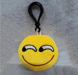 design electronic NZ - New 14 Design Key Chain Gifts Emoji Keychains Smiley Small pendant Emotion Yellow QQ Expression Stuffed Plush doll toy for bag pendant