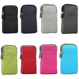 Lg Android Cases Canada - Waterproof Running Sport Phone Case Waist Belt Pouch Nylon Plastic Waist Mobile phone HandBag For iPhone Android Smartphone