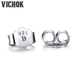 $enCountryForm.capitalKeyWord NZ - Wholesale Earplugs 925 Sterling Silver Earrings Plug Back Fashion Fine Jewelry Prevent Allergies Earrings Accessories VICHOK