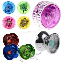 $enCountryForm.capitalKeyWord Canada - Luxury Childern Kids Toys Shining Flashing LED Glow Light Up Flash Party Colorful Yo-Yo YOYO Ball with String Random