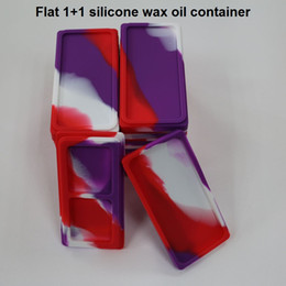 $enCountryForm.capitalKeyWord NZ - 1+1 Flat wax silicone container silicone wax oil dab container silicone storage jars for dry herb holding, cosmetic