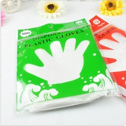 Tool process online shopping - Disposable Gloves Transparent Anti Fouling Oil Protection Food Processing Home Tool PE Glove Edible Film Sanitary Mittens rr F