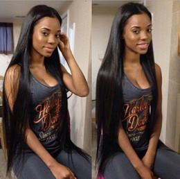 Toptan satış Kamboçyalı İnsan Saç Peruk Siyah Kadınlar için Düz Dantel Ön Peruk Tam Dantel Peruk 8-32 inç FDSHINE