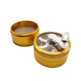 $enCountryForm.capitalKeyWord Canada - Handled Portable 4 Layers four colors Aluminum Alloy Matel Herbal Tobacco Grinder Herb Spice Crusher With Hand Crank