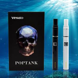 Black Blocks Canada - 2017 New Arrival Real Ceramic Pop Tank No Air Passage Block Pop Tank Wax Vapor Pen Herbal Pop Tank Dab Pens Kit