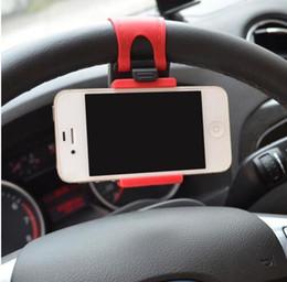$enCountryForm.capitalKeyWord Canada - Universal Car Steering Wheel Cradle Clip Car Bike Mount Stand Flexible Phone Holder extend to 86mm G0382