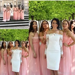 $enCountryForm.capitalKeyWord Canada - Bohemian Country Wedding Guest Party Gowns Long Prom Dress Halter Neck Pleated Chiffon A-Line 2017 Blush Plus Size Bridesmaid Dresses Cheap