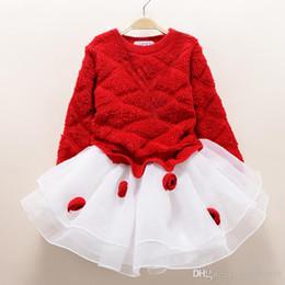 Moda yeni sonbahar kış kız elbise sıcak elbise bebek çocuk giyim