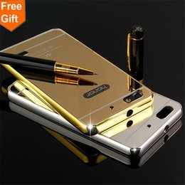 $enCountryForm.capitalKeyWord Canada - For Huawei Honor 4C Case Luxury Gold Plating Aluminum Alloy Frame + Mirror Acrylic Back Cover Phone Cases For Huawei 4C C8818D