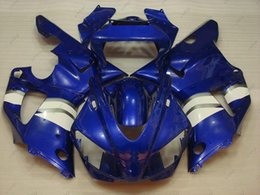 98 r1 fairing blue Australia - Plastic Fairings YZFR1 1998 Body Kits for YAMAHA YZFR1 98 Blue White Fairing Kits YZF R1 1999 1998 - 1999