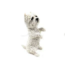 $enCountryForm.capitalKeyWord Canada - West Highland Terrier Cute White Puppy for Pet pals Siting up Resin Puppy Statue Hand made