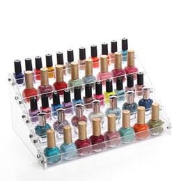 $enCountryForm.capitalKeyWord Canada - New Creative Clear Acrylic Nail Polish Rack Cosmetic Organizer Women Makeup Tools Storage Shelf Lipstick Holder Jewelry Container