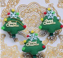 $enCountryForm.capitalKeyWord Australia - 2017 Girls Christmas Headband Xmas Tree Hairpin Barrettes Headbow Best Christmas Gifts for Baby Tolders Girls