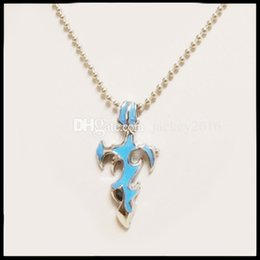 $enCountryForm.capitalKeyWord Canada - 2017 Exquisite Flamy Cross Necklace Titanium Steel Fire Jewerly Mens Tribal Dragon Tattoo Blade Flame Cross Sword Dagger Pendant T1006