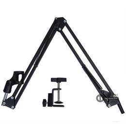 mic stand shock mount Australia - Broadcast Studio Microphone Stand Desktop Mic Holder Clamp Mike Boom Shock Mount Windscreen Suporte For Compuer PC Laptop Mixer Audio