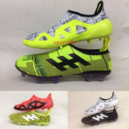2017 New Arrival High Quality New Limited Edition Glitch Skin 17 FG Outdoor Soccer  Shoes Double Shoes Protection Football Boots 39-45 skins shoes spike on ... 9317ca1cd