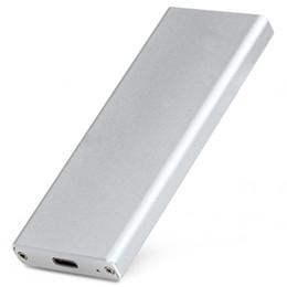 Discount external hard drive enclosure case - Wholesale- Aluminum Type-C Interface USB 3.1 Mini Mobile Hard Disk Box,USB 3.1 External Enclosure Case For M.2 NGFF SSD