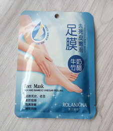 $enCountryForm.capitalKeyWord NZ - free DHL 360pcs lot ROLANJONA feet mask Milk and Bamboo Vinegar Feet Mask skin Peeling Exfoliating regimen for Feet care