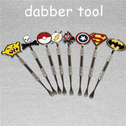 Pokemon Oil Rigs Australia - Hot sell Stainless Steel Wax dabber Poke Packet Mon Cartoon Dabber Glass Bong Tool Dab Oil Rig smoking accessories Jars Wax Container Tool