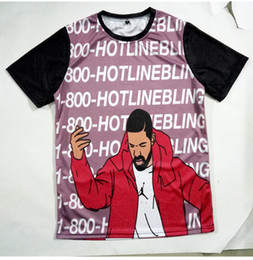 $enCountryForm.capitalKeyWord Canada - Real USA Size hotlinebling drake singer 3D Sublimation print T-Shirt Plus size