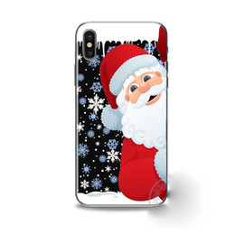 New Year Christmas Tree Snowman Soft Cover Phone Case for iphone 7 6 6s 8 plus X 5 5S SE Phone Case