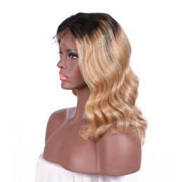 $enCountryForm.capitalKeyWord Canada - Hot Pre Plucked Honey Blonde Full Lace Wig Dark Root Virgin Brazilian Body Wave Lace Front Wig Two Tone Ombre Human Hair Wigs