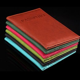 $enCountryForm.capitalKeyWord Canada - 6 Colors Women Men Passport Holder Immitation Leather Women Men Travel Passport Cover Card Case Holder