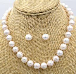 "$enCountryForm.capitalKeyWord Australia - Women's Fashion Jewelry 12-13 mm white Pearl Necklace 18 ""+ earrings Set"