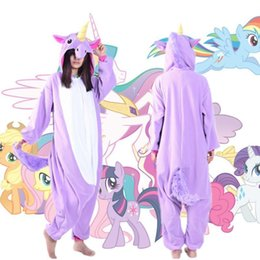 Barato Novo Unicórnio Onesie-New Orchid Unicorn Pyjamas Anime Cosplay Costume Adult Onesie Sleepwear Hooded Hoodies Mulher e Homens Vestidos