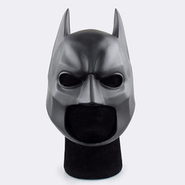 Helmet fast online shopping - Movie Figure The Dark Knight Batman Soft Helmet Cosplay Mask PVC Action Figure Toy Christmas Gift Fast Shipping