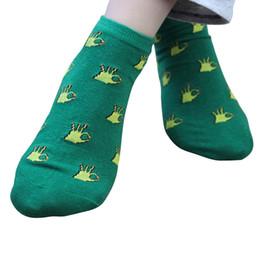 $enCountryForm.capitalKeyWord NZ - New cute fruit color love candy color cotton sock summer autumn style women's girls socks cotton women's thin sock slippers