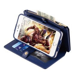 Leather Smart Phone Wallet UK - leather wallet cover for smart phone Multi-functional leather pouch case for android phone