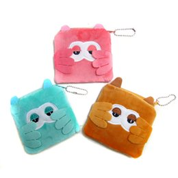 $enCountryForm.capitalKeyWord NZ - Wholesale- New Cute Girls Mini Coin Purse Brand Child Owl Small Zipper Pouch Wallet Case Cotton Animal Makeup Buggy Bag for Earphone