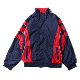 $enCountryForm.capitalKeyWord NZ - Color Block Patchwork Stand Collar Men's Jacket 2017 Winter Thin Style Off Shoulder Jacket Men 7138OU