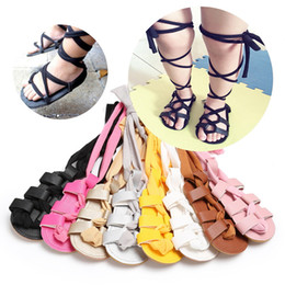 $enCountryForm.capitalKeyWord Canada - Baby Girls Sandals Summer Toddler Kids Flat Heels Lace-up Sandals Girls Rome Sandals Baby First Walkers Shoes PU Leather Shoes