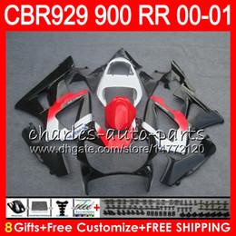 Honda Cbr929 Australia - Body For HONDA CBR 929RR CBR900RR CBR929RR 00 01 CBR 900RR New Stock red 67HM3 CBR929 RR CBR900 RR CBR 929 RR 2000 2001 Fairing kit 8Gifts