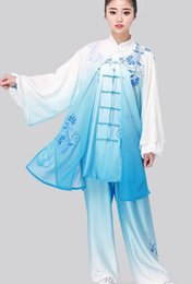 $enCountryForm.capitalKeyWord Canada - stretch silk Tai chi performance suit dress clothing ice Silk blue and white porcelain gradient color martial arts clothing suit three