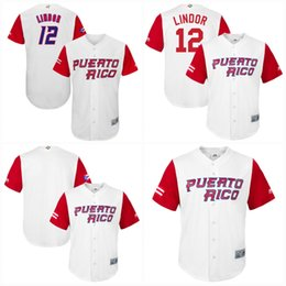 12 Franciscolindor Men Puerto Rico 2017 World Baseball Classic Jerseys  100% Stiched Embroidery Logos Mix order baseball jerseys 9ba35d599