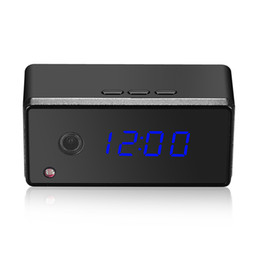 Night Vision Motion Detect UK - Wireless Wifi Clock IP Camera CCTV Security P2P Cam IR Night Vision 720P HD Motion Detect Live Remotely Baby Monitor