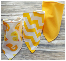 $enCountryForm.capitalKeyWord Canada - 3pcs set Baby cotton Bibs burp Cloths Newborn double layer girls boys Waterproof Triangle Saliva Towel animal owl watermelon style bib YE010