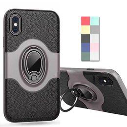 $enCountryForm.capitalKeyWord NZ - Car Holder Soft Case for iPhone X 10 8 7 Plus 360 Finger Ring Magnetic Defender Hybrid Hard Frame Phone Cover for iPhoneX