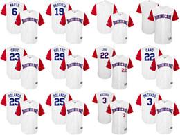 1fccba055 ... White 2017 World Baseball Classic Stitched Authentic Mens Women Youth  Dominican 22 Robinson Cano 19 Jose Bautista 3 Manny Machado 2017 World  Baseball ...