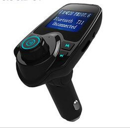 Discount disk packaging - T11 Wireless Car MP3 Player LCD Display Bluetooth Handsfree Kit Support U Disk FLAC TF Card Handsfree Calling with Retai