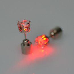 jade plant flowers 2019 - Diamond stud earrings earrings nightclubs in Europe and America must-lovers LED light sweet zircon earrings wholesale Ko