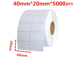 $enCountryForm.capitalKeyWord NZ - 40*20mm 5000pcs roll blank or white paper free shipping barcode self adhesive sticker label