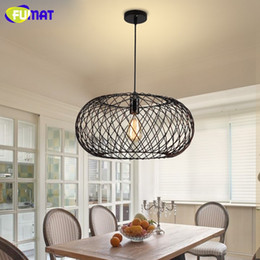 Vintage Metal Cage Lamp Classic Pendant Lamp Decoration Home Lighting  Fixture Retro Industrial LOFT Pendant Lights
