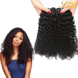 Discount black hair perm curly - 8A Brazilian Curly Virgin Hair Wefts Natural Black Brazilian Kinky Curly Hair Weaves Brazilian Deep Curly Virgin Human H