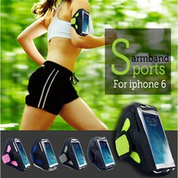Gym Arm Cell Phone Holder Canada - Waterproof Workout Running Armband Case Gym Sports Arm Band Cell Phone Cover Bag Pouch with Key Holder for Huawei P9 Mate 9 P8