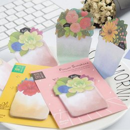 Wholesale- 36pcs / Lot Garden Flower pianta memo pad Succulento Daisy post note Vintage planner sticker Cancelleria Office School supplies 7057