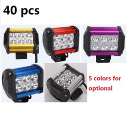Universal Atv Canada - 40 pcs 4 Inch 18W LED Work Light Bar for Indicators Motorcycle Driving Offroad Boat Car Tractor Truck 4x4 SUV ATV 12V